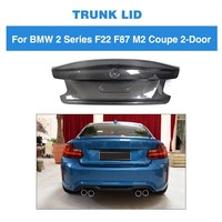 For BMW F22 F87 M2 Base Coupe M Sport 2Door 2014 2018 Rear Trunk Spoiler Boot Wing Lip Cargo Cover Carbon Fiber