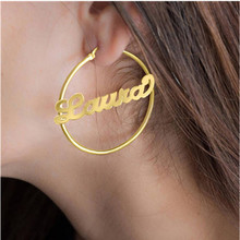 Jewelry Personalized Name Large Earrings For Women Hiphop Br