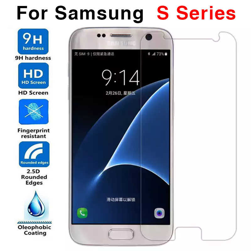 For <font><b>Samsung</b></font> Galaxy S7 Glass <font><b>Screen</b></font> <font><b>Protector</b></font> For <font><b>Samsung</b></font> S6 S5 S4 S3 S2 Mini Tempered Glass Protective Film Protect Glas 9h image