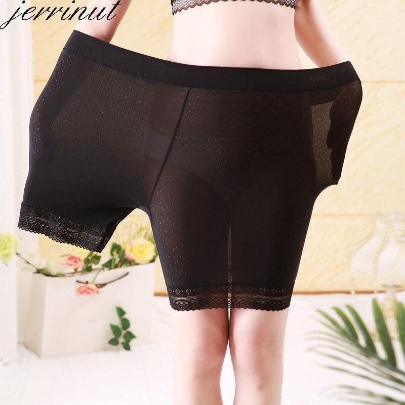 Jerrinut Women Safety Shorts Pants Seamless High Waist Panties Boyshorts Pants Underwear Boxer Ice Silk Female Intimate