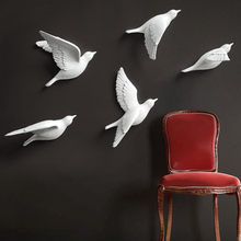 Resin Birds Creative For Wall 3d Sticker Living Room Animal Figurine Wall Murals tv Wall Background Decorative Home Decor Birds