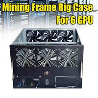 USB 2.0 DIY Dual Power Supply Fan Mining Frame Rig Case For 6 GPU Crypto Currency Miner New Arrival