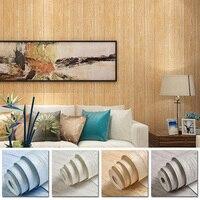 Solid Wallpaper Fine pressed Retro Nostalgic Wood grain Non woven Wall Sticker For Bedroom Hotel