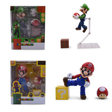 2 Styles Anime SHF SHFiguarts Super Mario Bros Mario / Luigi PVC Action Figure Doll Collectible Model Baby Toy Christmas Gift
