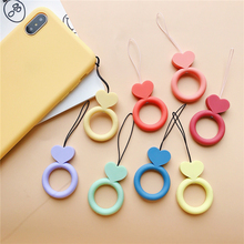 WTSZKL Cute mobile phone lanyard silicone U Disk Holder ID Work Card Mobile Cell Phone Chain Straps Keychain Hang Rope