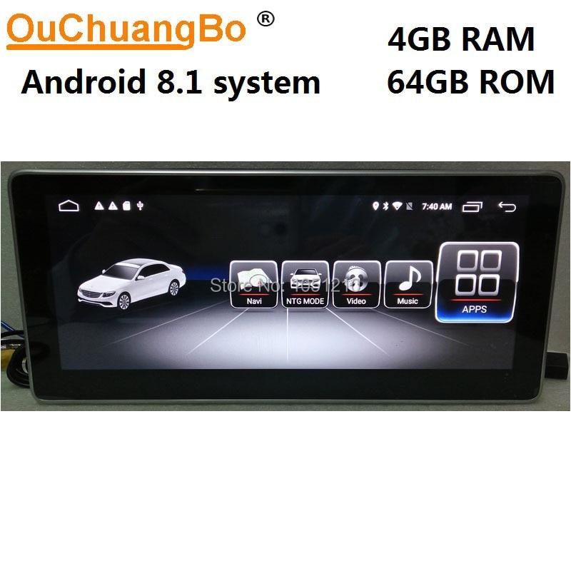 Ouchuangbo Android 8.1 radio gps audio pour Mercedes Benz GLC 43 200 260 300 C180 C200 C260 C300 C350 W205 avec 4 GB + 64 GB