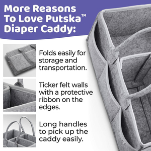 Image 5 - Baby Diaper Caddy Organizer Portable Holder Bag for Changing Table and Car, Nursery Essentials Storage bins