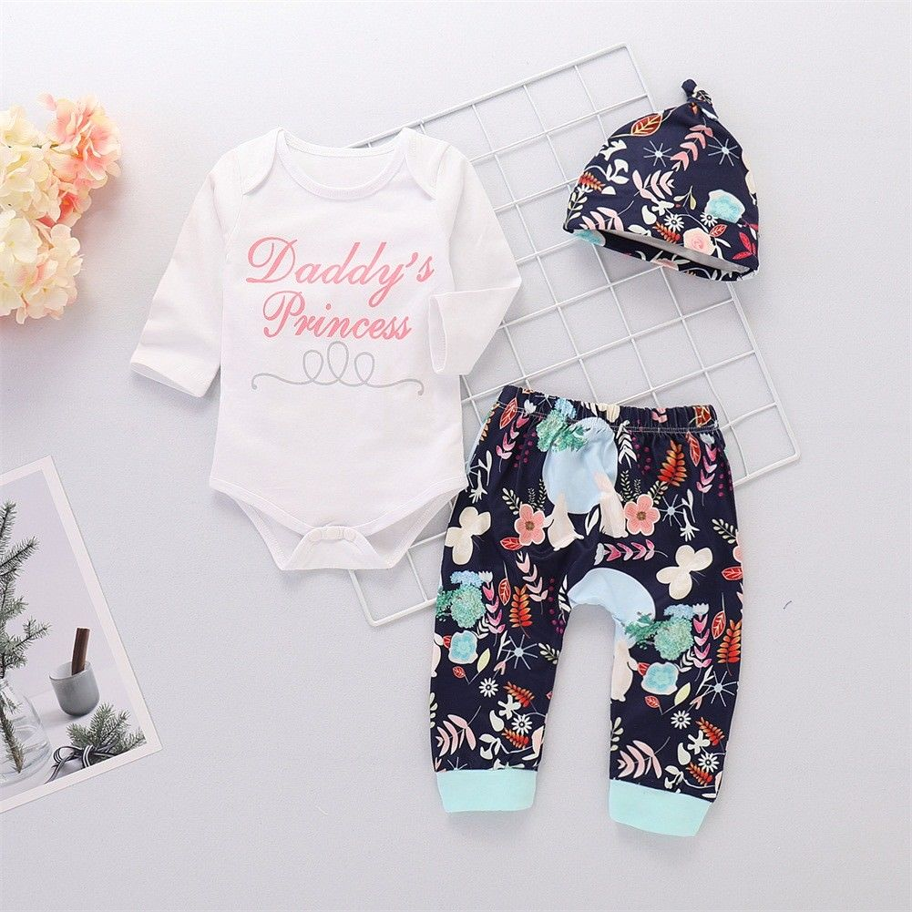 Newborn Kids Baby Girls Floral Clothes Jumpsuit Romper Bodysuit Pants Outfits US