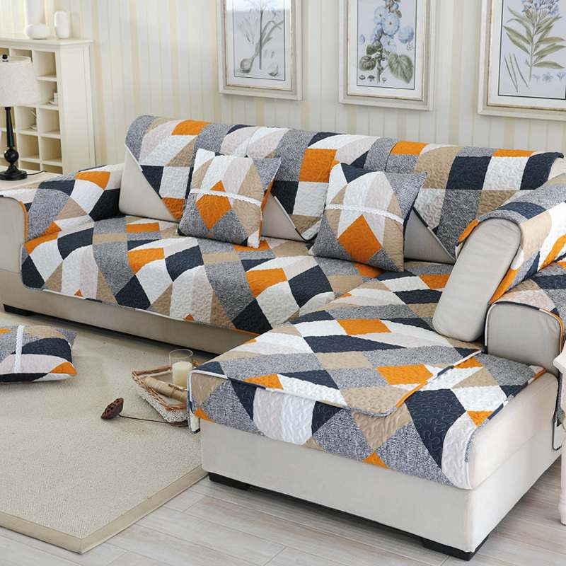Sofa Covers Non-slip Quilted Corner Sectional Sofa Cover Towel Slipcover One/Two/Three Seat Decoration Many Sizes