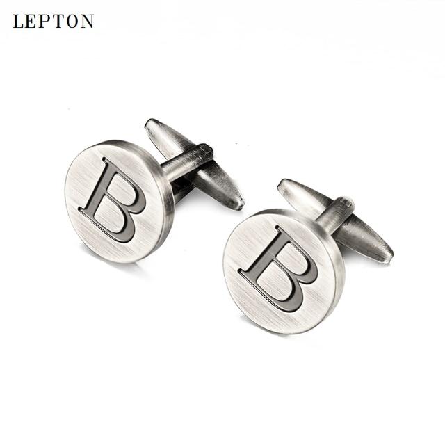 Купить запонки lepton в с буквами алфавита для мужчин классические картинки