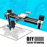 280x200mm Mini XY 2 Axis CNC Plotter Pen USB DIY Laser Drawing Machine Engraving Area Desktop Drawing Robot