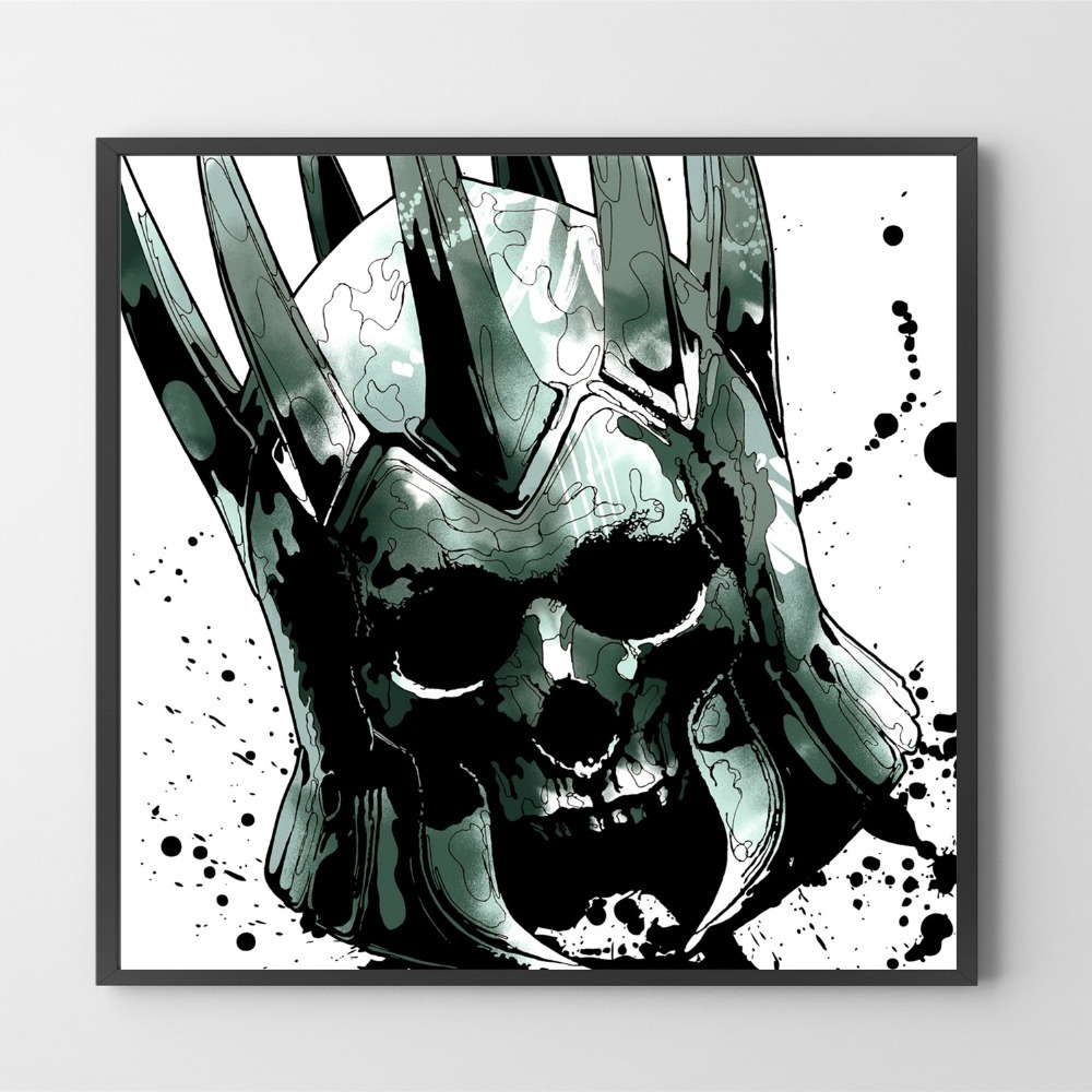 Black and White The Witcher On Sale Poster Wall Painting Living Room Abstract Canvas Art Pictures For Home Decor No Frame in Painting Calligraphy from Home Garden