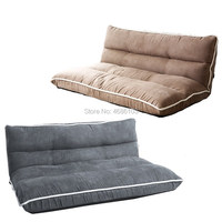 2019 Suede Fabric Japanese Floor Legless Sofa 60/90/120 Bed Furniture Modern Fashion Living Room Reclining Futon Sofa Chair