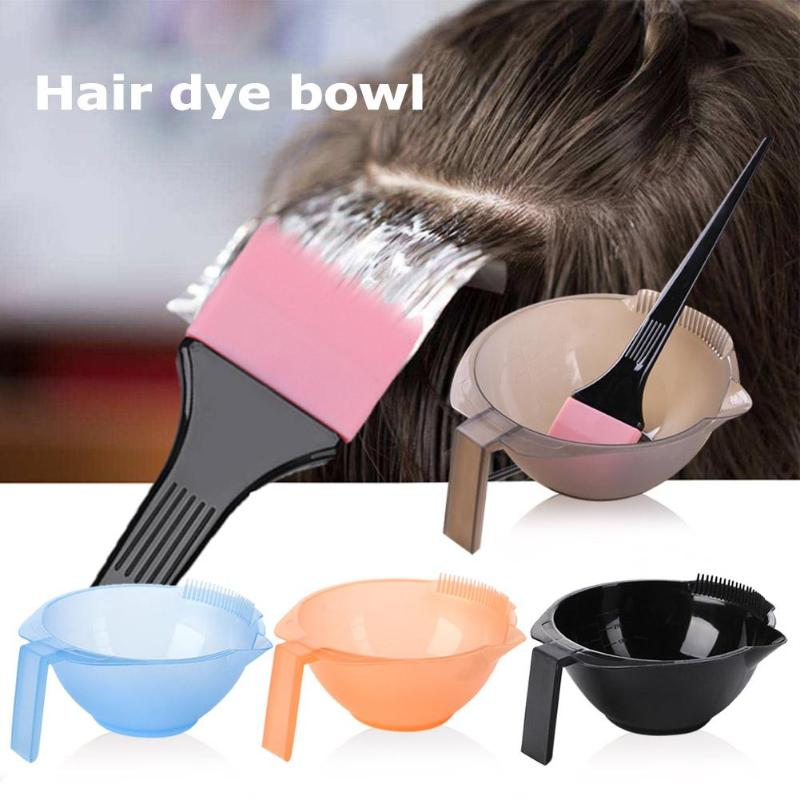 Hair Color Mixing Bowls Plastic Hair Dying Palette Bowls Salon Dye Mixing Bowls Hairdressing Barber Styling Tool (Random Color)