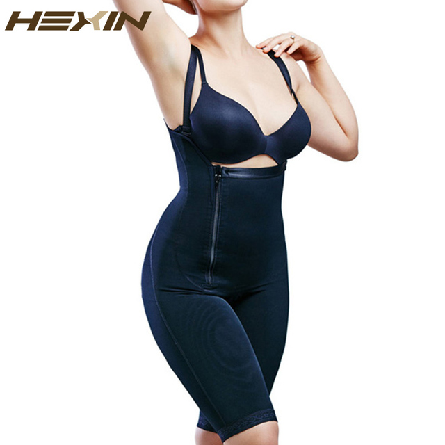 cc1a9a4a5b HEXIN Zipper Full Body Shaper Butt Lift Shapers Waist Tummy Control Butt  Lifter Waist Trainer Cincher