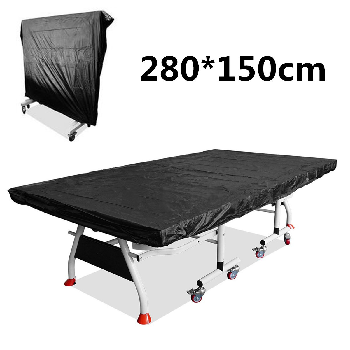 Pings Pong Table Storage Cover Table Tennis Sheet Indoor Outdoor Protection Table Tennis Sheet Waterproof Cover Black