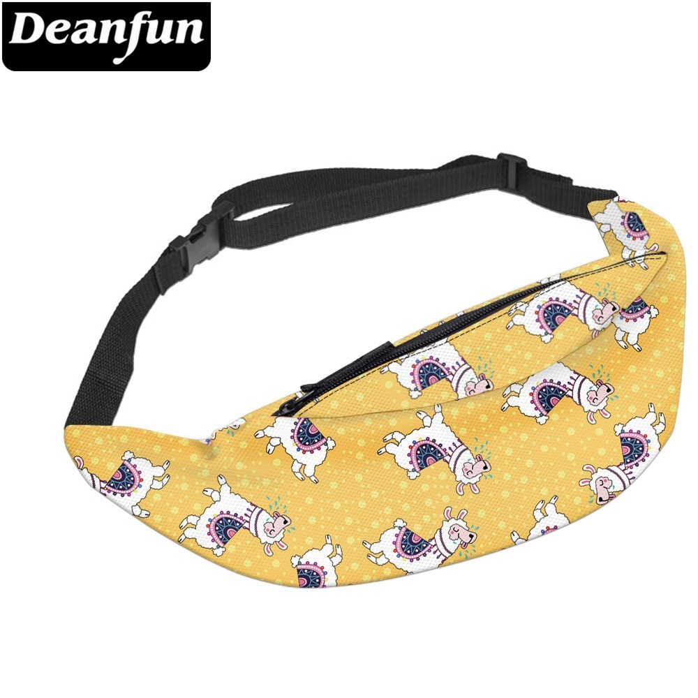 Deanfun Water Resistant Adorable Llama Mens Fanny Packs Gift Waist Pack Money Bag Phone Pouch For Running  YB-67
