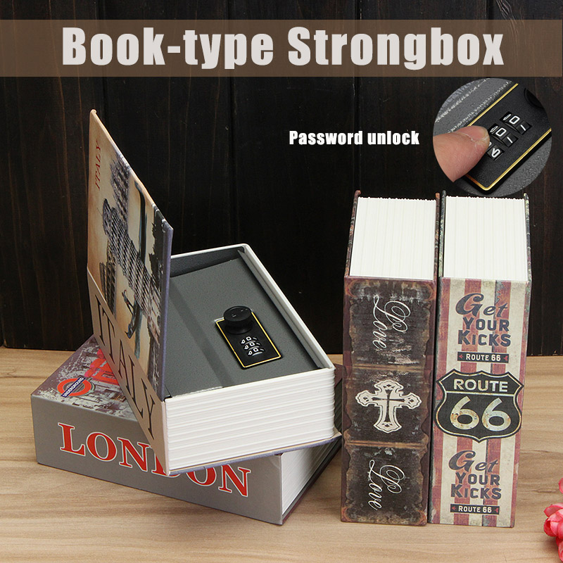 Mini Hollow Dictionary Safe Box Book Money Hide Secret Security Safe Lock Cash Money Coin Storage Jewellery Key Locker Kid Gift