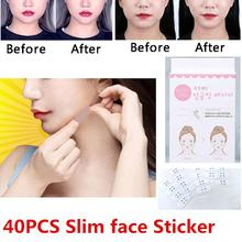 40pcs lift face sticker Thin face stick face artifact invisible sticker lift chin Medical tape makeup face lift tools