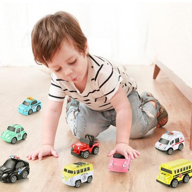 8PCS Pull Back Car Set Alloy Puzzle Racing Classic Toy Mini Car Model Cute Mini Fun Toy Car Perfect Gift For Children