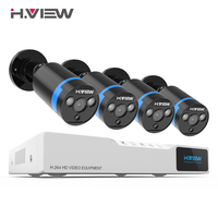 H. VIEW система безопасности 8ch система видеонаблюдения 4 1080 P камера видеонаблюдения 2.0MP камера комплект видеонаблюдения 8ch DVR 1080P HDMI видео выхо