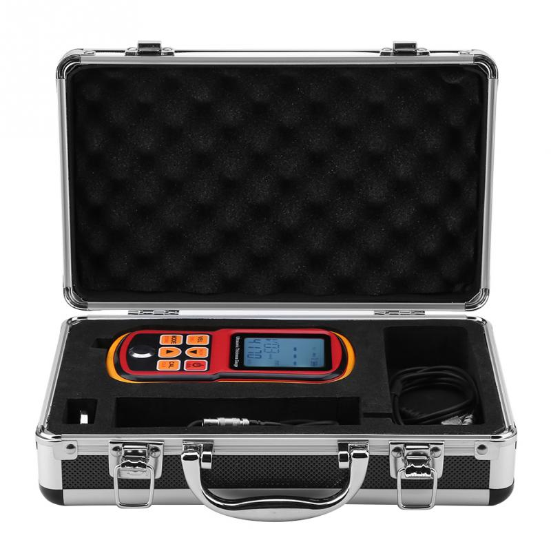 Digital Ultrasonic Thickness Gauge 1 300mm Steel Width Testing Monitor Professional Metal Thickness Gauge Tester GM130