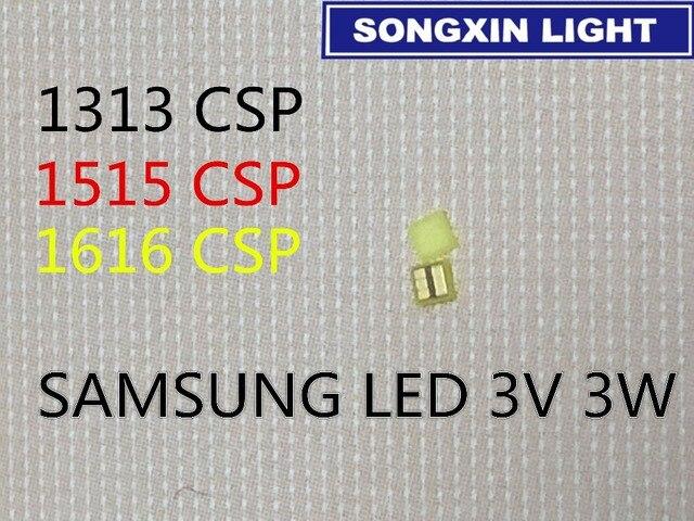 2000 pces para samsung led 1313 aplicação tv led backlight 3w 3v csp branco fresco lcd backlight para tv aplicação