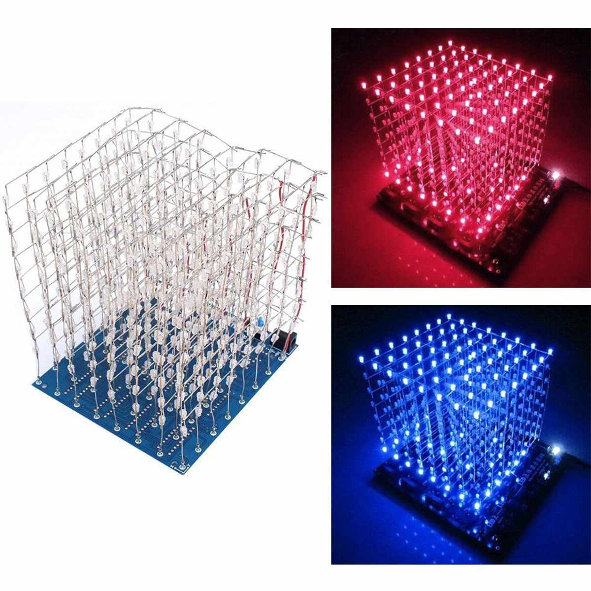 Leory Eiffel Tower Diy 3d Led Light Cube Kit 5v Led Music Spectrum Diy Electronic Kit For Dac Mp3 For Diy Welding Enthusiast Soft And Light Audio & Video Replacement Parts