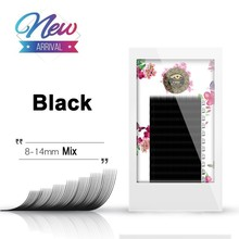 BRILLANT Advanced Black Flat Row False Eyelashes Extension 0.13 Coarse Soft Thick Natural 8-14 Mix Length Plant Grafting