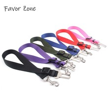 Nylon Car Pet Dog Seat Belt Puppy Cat Vehicle Seatbelt Clip Retractable Leash Universal Safety Harness Lead Products