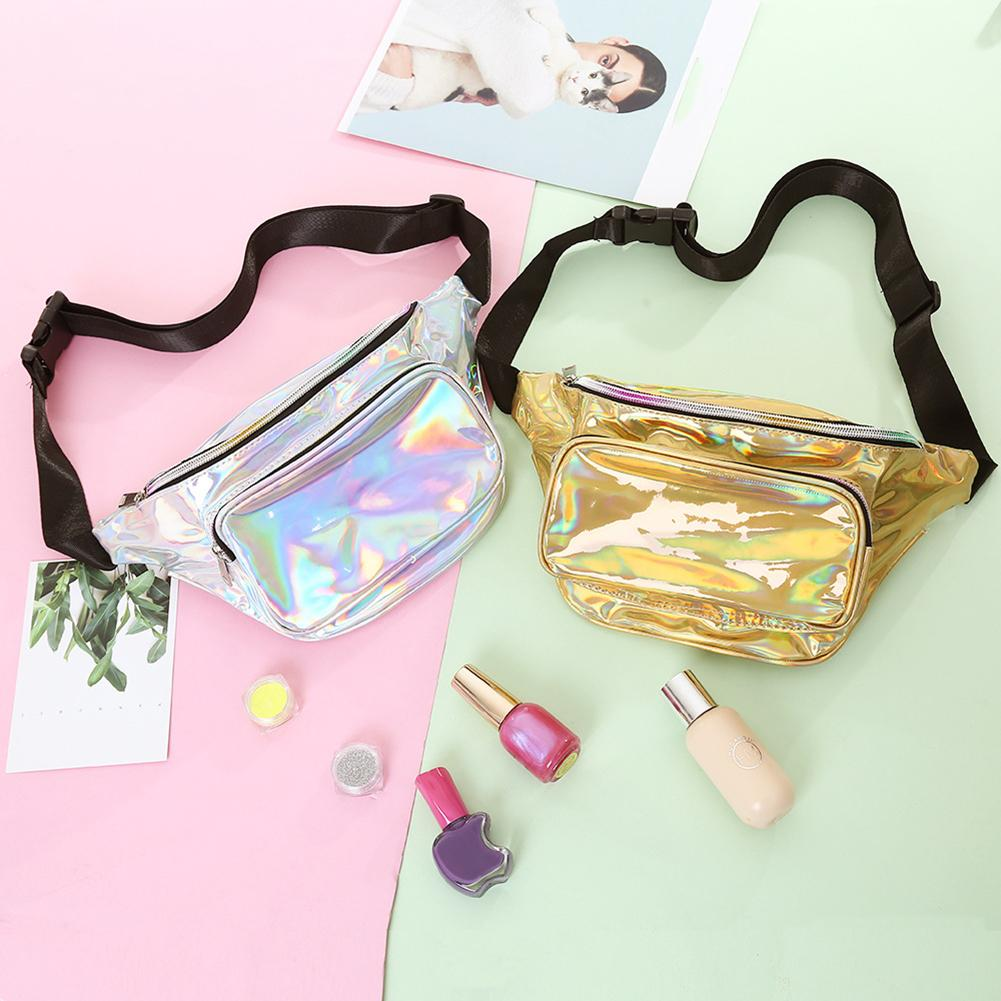 Fashion Women Holographic Crossbody Shoulder Pouch Chest Bag Fanny Waist Pack