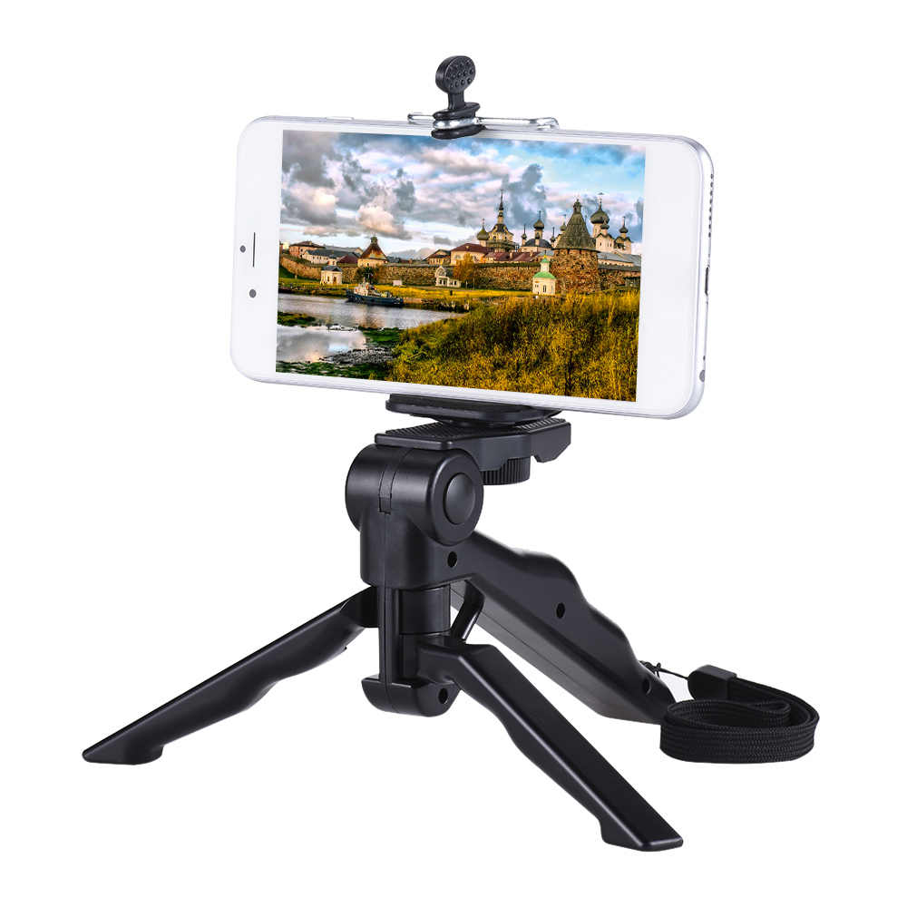 reputable site ed22d deb44 Mini Tripod Stand Holder Hand Grip Stabilizer w/ Smartphone Clip Bracket  for iPhone X 8 7 Plus Plus 6s for Samsung Galaxy S7 S6