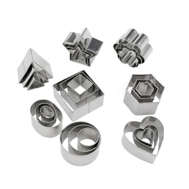 24pcs Stainless Steel Mini Cookie Cutter Set 4