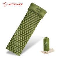Sleeping Pad Camping Mat With Pillow air mattress picnic Inflatable Cushion Sleeping Mat Fast Filling Air Moistureproof air bed