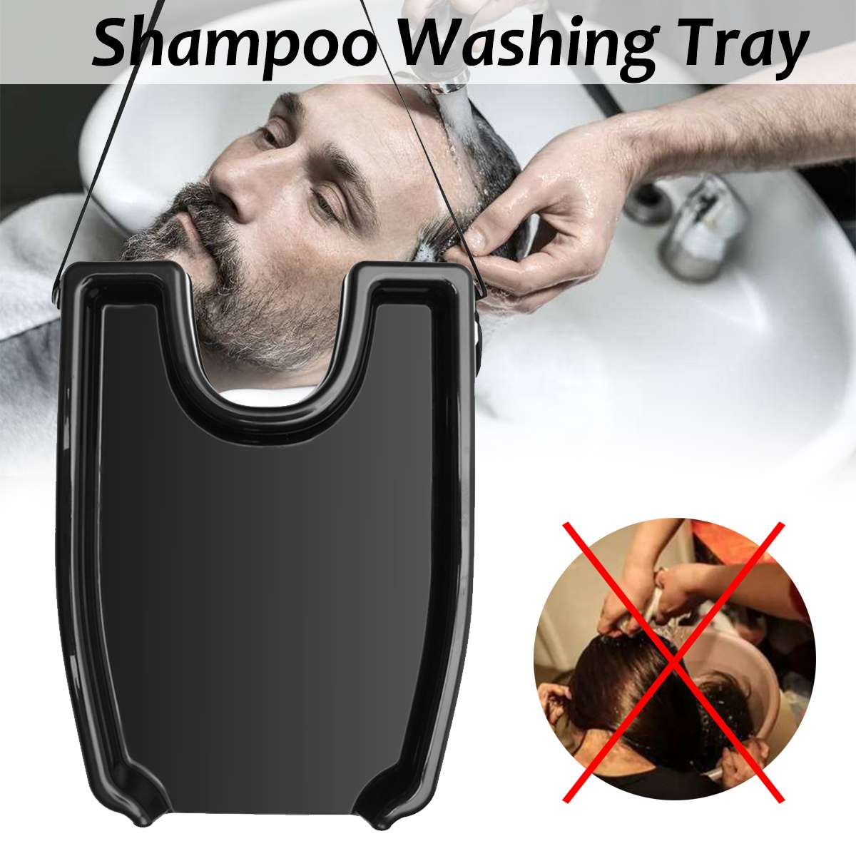 Image 3 - Portable Shampoo Tray Washing Hair Sink Basin for Patient Elderly Salon Treatment Home Medical Wash Hairdressing Hair Care Tool-in Styling Accessories from Beauty & Health