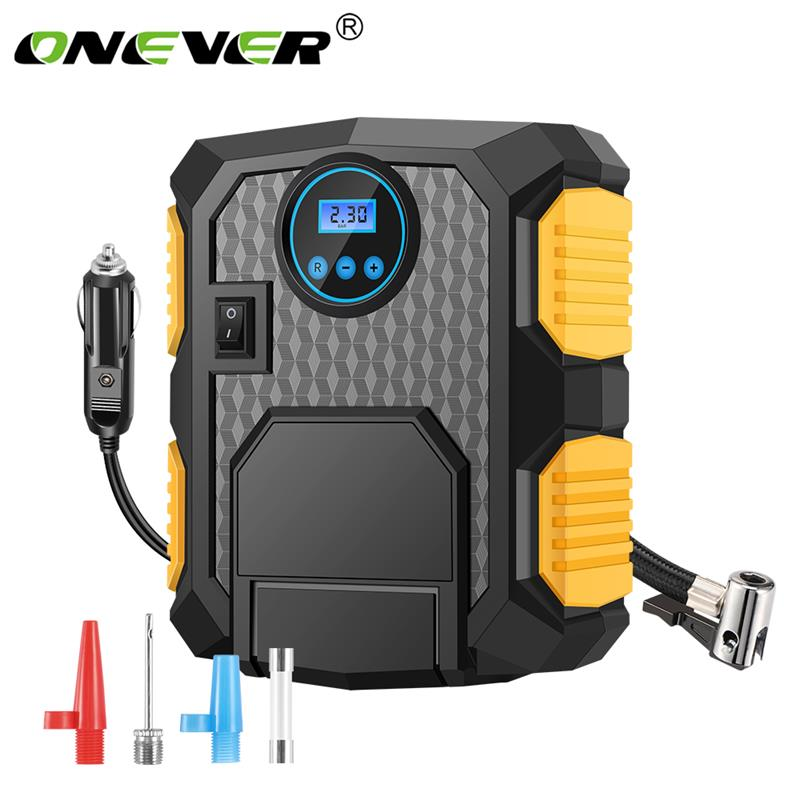 Onever Inflator Air-Compressor-Pump Car-Tire Digital Motorcycles Electric Portable 12V title=
