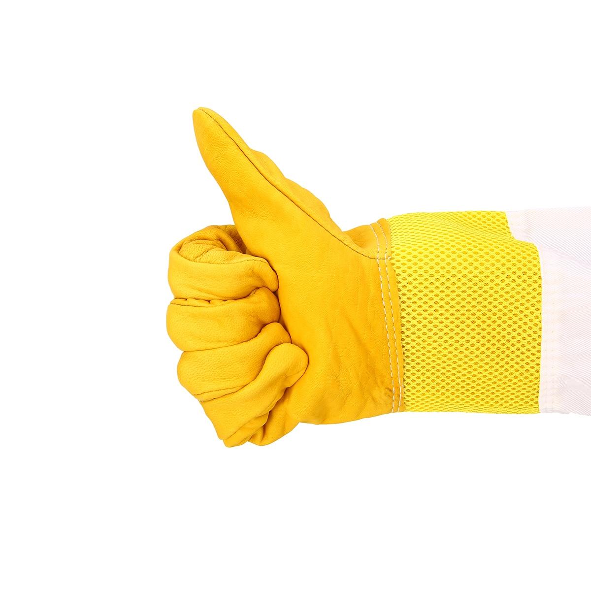 XL Beekeeping Gloves Goatskin Bee Keeping Vented Beekeeper Long Sleeves New