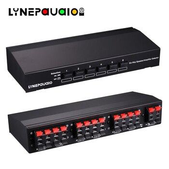 Interruptor Selector de altavoz estéreo de seis vías Selector de amplificador conmutador selectivo bidireccional 1 entrada 6 salida