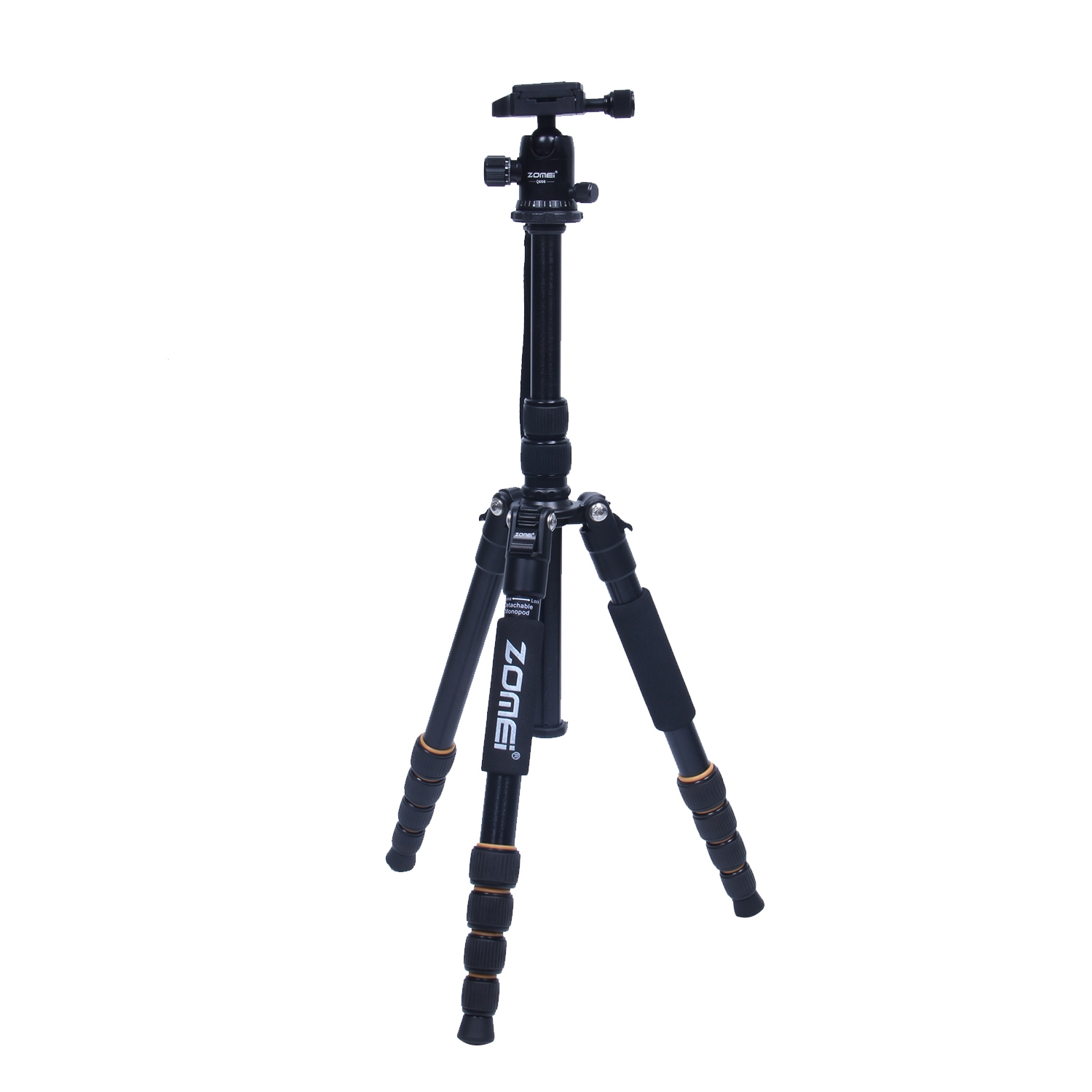 ZOMEi Q66 Aluminum Alloy Camera Tripod Stand with Rocker Arm for Canon Nikon Sony DSLR Cameras Camcorders Lightweight Mini Trip