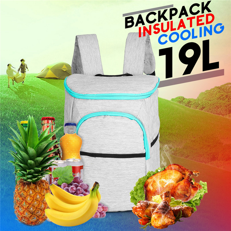 Campcookingsupplies Hot 19l Insulated Cooling Backpack Picnic Camping Hiking Beach Park Ice Cooler Bag Lunch Rucksack Unisex Oxford Fabric Backpacks Big Clearance Sale Sports & Entertainment