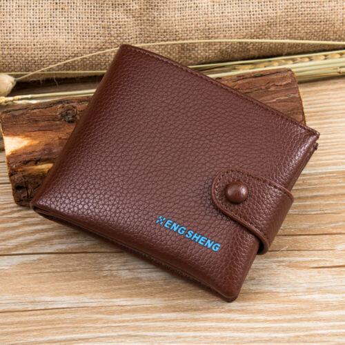 Mens Leather Bifold ID Card Holder Wallet Billfold Handbag Slim Clutch New Gifts