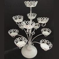MagiDeal European Cake Cupcake Stand 11 Cup Tree Rack Wedding Birthday Party Decor White