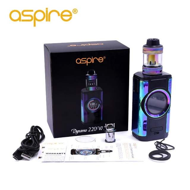 US $79 9 20% OFF Electronic Cigarette aspire Dynamo Vape Kit 220W High  Power Device Support VW VV Bypass CPS TC TCR Modes with 2 inch TFT  Screen-in