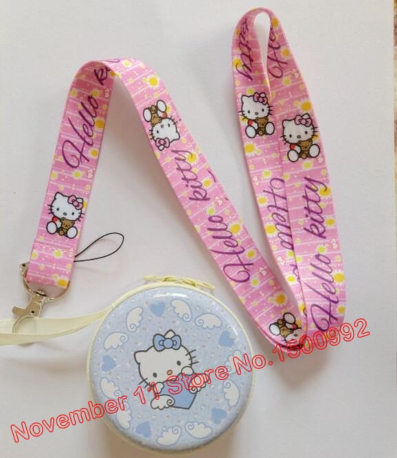 Key Chains Cooperative New 1pcs Hello Kitty Cartoon Neck Straps Lanyards Key Id Card Jewelry & Accessories Coin Purse Set Qw-524