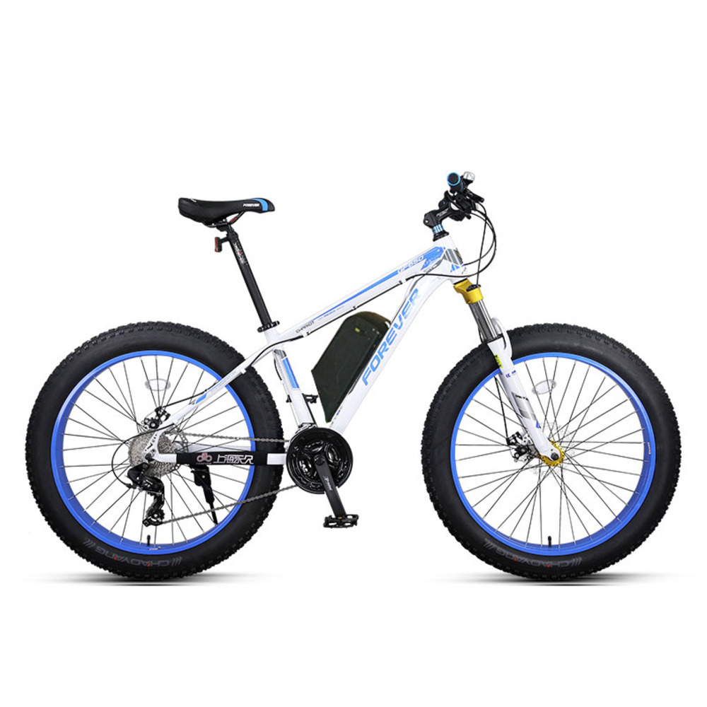 26 Inch Snow Mountain Bike Electric Ebike Fat Powerful Electric Bike Mtb 48v1500w Ebike 27 Speed Off road Tyres 4 0 Fat in Electric Bicycle from Sports Entertainment