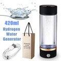 Sauerstoff Ionisator Wasser Generator Alkalische Tasse Wiederaufladbare Tragbare Für H2 Hohe Reine Elektrolyse Wasser Flasche 420 ML