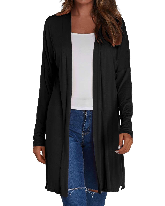 Thin Cardigan Coats Women Autumn Solid kimono Long   Trench   Casual Loose Long Sleeve Split Straight Cardigan Female Sunscreen Tops