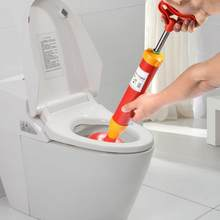 High Pressure Air Power Drain Buster Plunger Toilet Dredger Cleaner Powerful Manual Sink Pipe Clog Remover Opener Pump w/ Sucker(China)