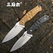 Sanrenmu S718 фиксированным лезвием ножи с K оболочка 12C27 Лезвие Открытый Отдых утилита выживания охотничий нож EDC инструмент CSGO