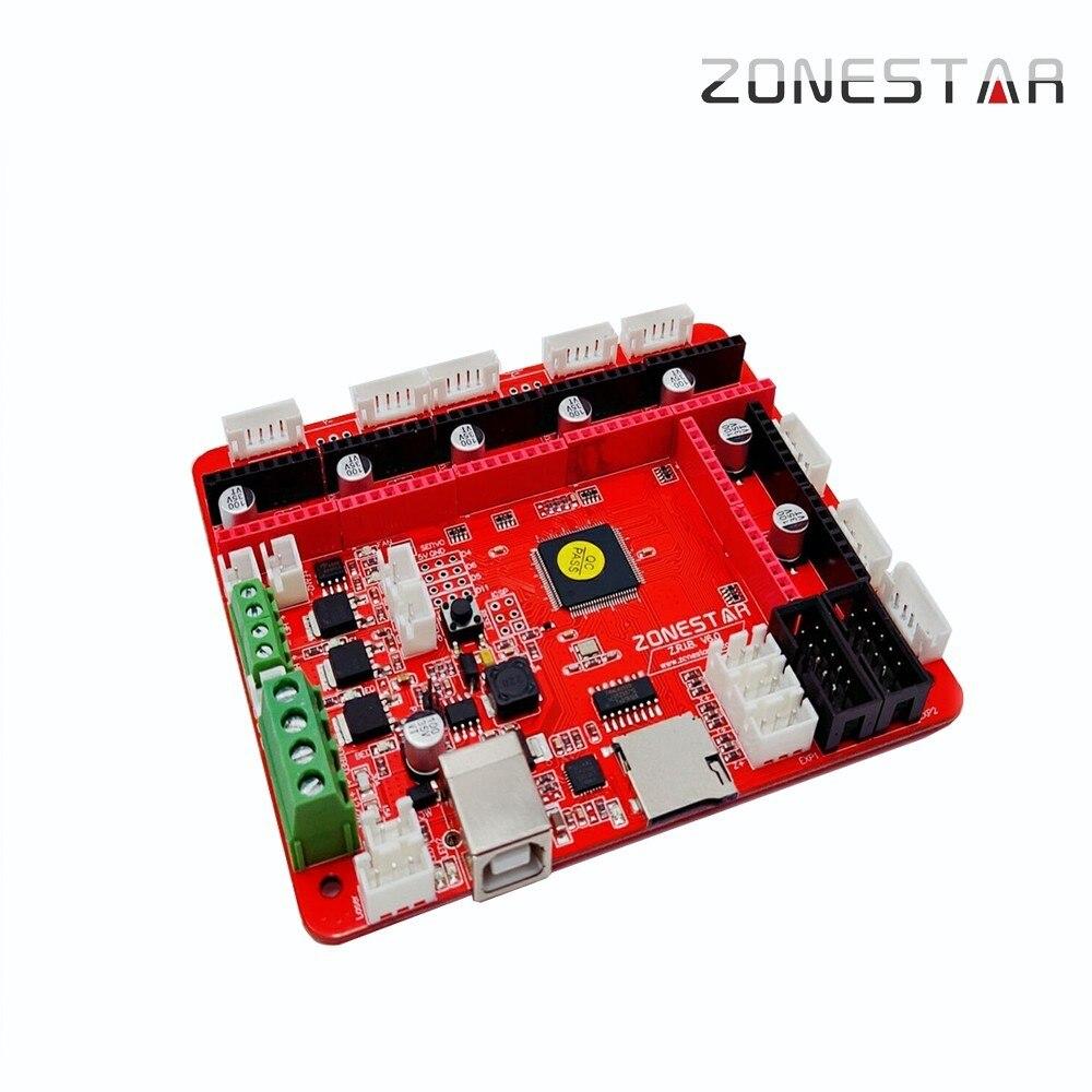 ZONESTAR date ZRIBV6 3D imprimante carte mère contrôleur Compatible avec rampes V1.4 ATMEGA2560 quatre extrudeuses